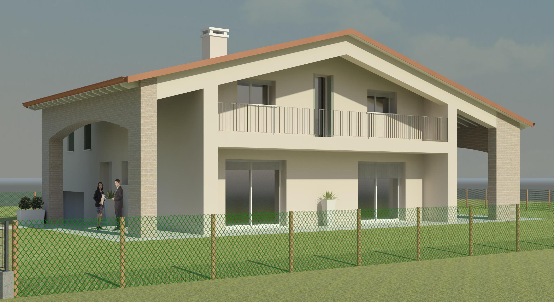 Unifamiliare bzd squizzato for Piani di casa in stile ranch con garage a lato